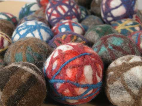 Felted Cat Toy Balls